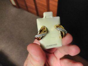 Gold over silver Real Diamond Women Hoop earrings for Sale in Dillsburg, PA