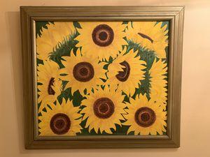 Beautiful Sunflowers Original Oil Painting- Pintura al Oleo Original for Sale in Miami, FL