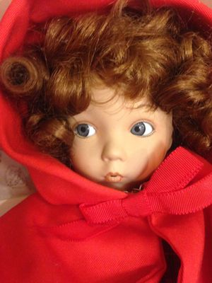 Collectible porcelain doll, little red riding hood. for Sale in Takoma Park, MD