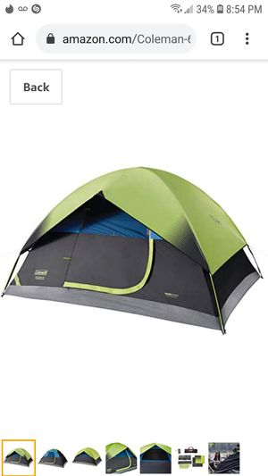 Coleman Sundome 6-Person Dome Tent - Dark Room Technology for Sale in Coal City, IL