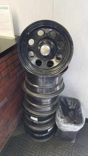 15x8 steel wheels with 2in lip 5x5 bolt pattern for Sale in Denver, CO