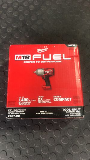 New Milwaukee impact wrench 1/2 high torque for Sale in Orlando, FL