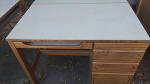 Regular desk with extra flap for Sale in Oakland, CA
