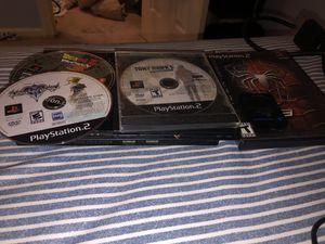 Playstation 2 w/ Dragon Ball Z Budokai 3, Kingdom Hearts 2, Spiderman 3, & Tony Hawk's: Proving Ground for Sale in Snellville, GA