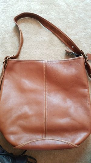 Real Coach Brown Leather Tote Purse for Sale in Tampa, FL