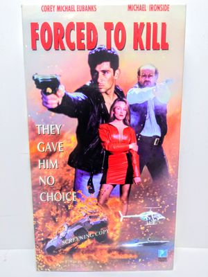 Forced To Kill Screening Copy VHS for Sale in Garland, TX