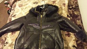 Plus Size Ladies Custom made Davoucci Leather and Shearling Coat for Sale in Las Vegas, NV