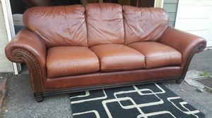 Genuine Leather Sofa Couch - Delivery Available - for Sale in Seattle, WA