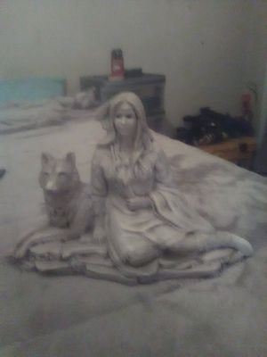 Indian and Wolf statue for Sale in Mineral Wells, WV