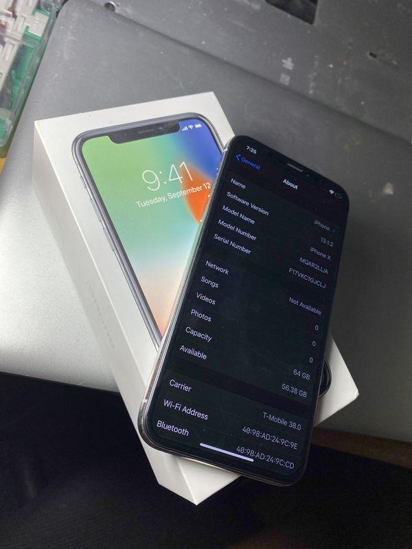 Factory Unlocked iPhone X 64GB