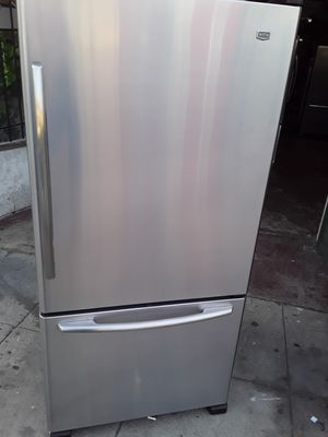 REFRIGERATOR MAY TAG FRENCH DOORS STAINLESS STEEL for Sale in Los Angeles, CA