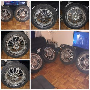 22 inch CHROME RIMS!!! NEED GONE ASAP!!! for Sale in Washington, DC