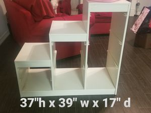 Stair stepped storage shelves for Sale in Deer Park, TX