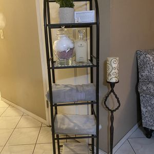"5 Tier restroom organizer only Size 54 1/2"" tall by 13"" w and 11"" D for Sale in Garden Grove, CA"