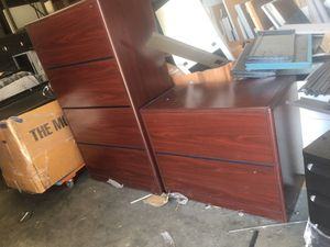 Wood file cabinets with keys for Sale in Dallas, TX