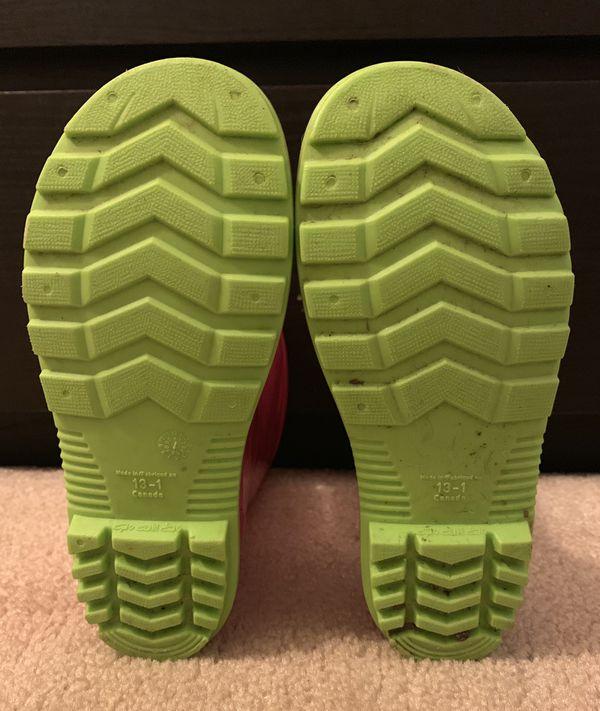 Girls Rain boots Size 13-1