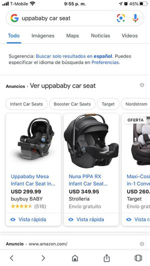 Uppababy mesa infant car seat for Sale in Providence, RI