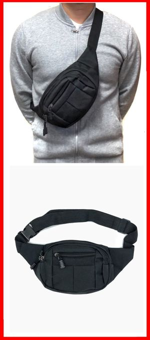 Brand NEW! Simple Black Crossbody/Shoulder/Side Bag/Sling/Pouch For Work/Traveling/Jogging/Fishing/Hiking/Biking/Sports/Gym/EDC $10 for Sale in Torrance, CA