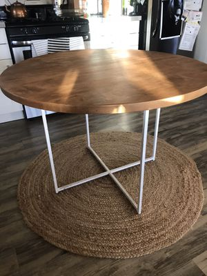 Wood and Metal Round Dining Table for Sale in Oceanside, CA