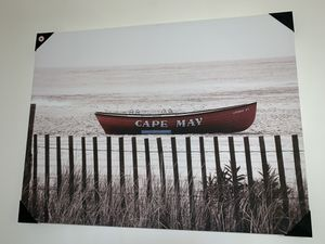 Cape May boat wall art canvas for Sale in Columbus, OH