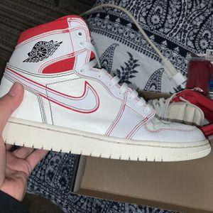 """Jordan 1 High OG """"Phantom"""" (White, Sail, Red) for Sale in Washington, DC"""