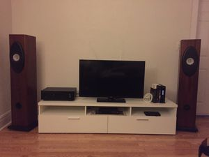 Speakers: Brines Acoustics Custom Made single-drive Stereo Speakers. for Sale in Chicago, IL