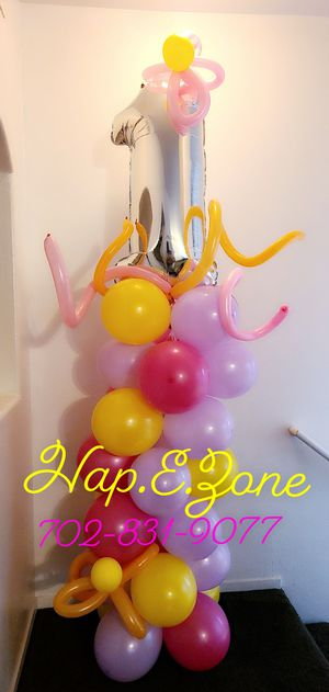 Baby Girls 1st Birthday Balloon Party Decor for Sale in Las Vegas, NV