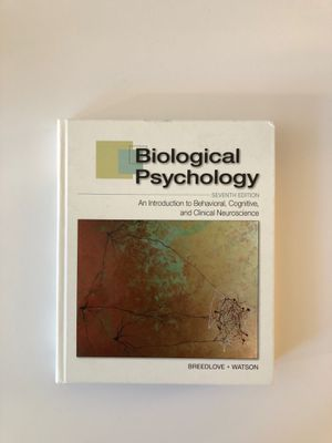 Biological Psychology Seventh Edition (Breedlove and Watson) for Sale in New York, NY