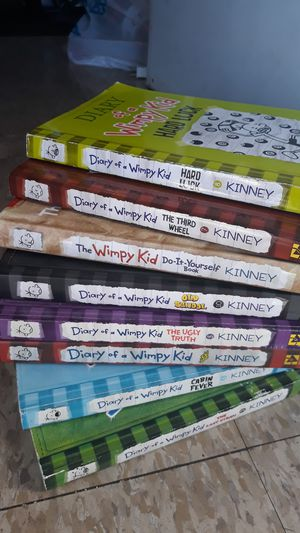 8 Diary of a wimpy kid books for Sale in Los Angeles, CA