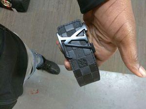 All black Louis Vuitton belt for Sale in Washington, DC