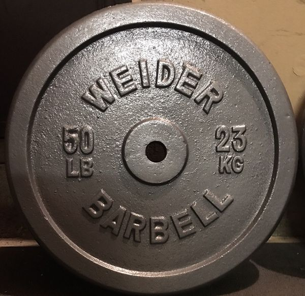 Pair 50 Lb Weider Standard Weight Plates For Sale In El