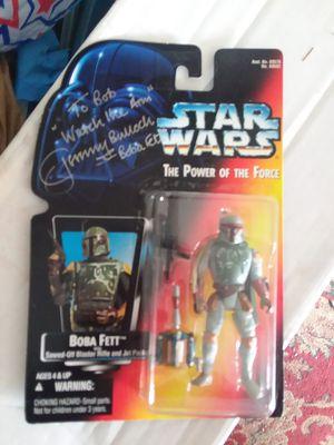"""Star wars 3"""" signed boba fett in box for Sale in Tarpon Springs, FL"""