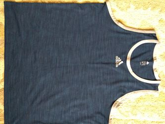 Adidas XL mens navy blue tank top for Sale in Washington,  IL