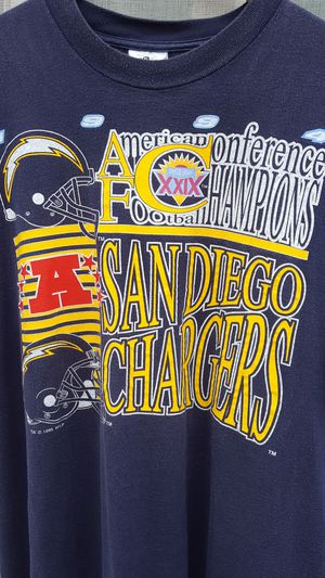 Vintage 1994 San Diego Chargers Conference Champions Tee Supreme Nike Palace Bape for Sale in La Mesa, CA