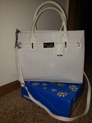 Nine West White Purse with Shoulder Strap, Tote Handbag for Sale in Romeoville, IL