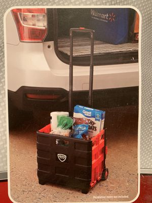 Foldable rolling cart - NEW for Sale in Lumberton, TX