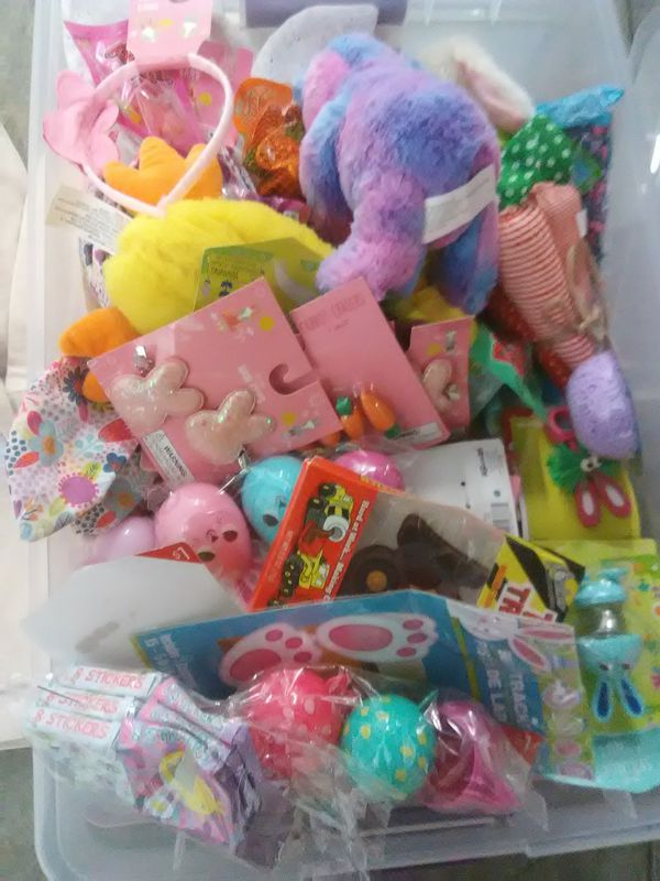 Easter craft items bunny bags box full in nwt