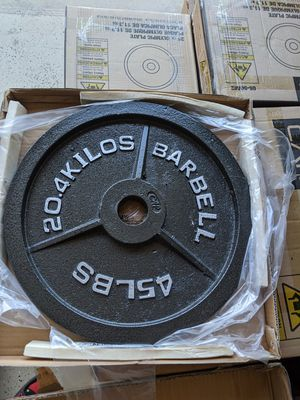 CAP OLYMPIC WEIGHTS 255LB. NEW IN BOXES $700 FIRM for Sale in Stockton, CA