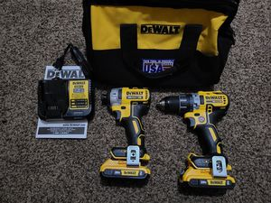 Dewalt 20-Volt MAX XR Lithium-Ion Cordless Brushless Drill Driver/Impact Combo Starter Kit for Sale in Modesto, CA