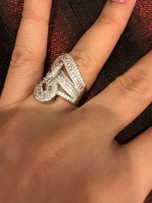 Stamped 925 Sterling Silver Fashion Ring-Code LVSR7 for Sale in Dallas, TX