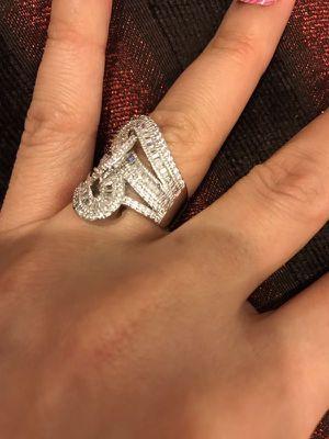Stamped 925 Sterling Silver Fashion Ring-Code LVSR7 for Sale in Jacksonville, FL