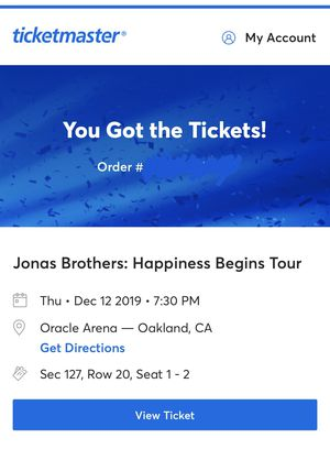 Jonas Brothers Happiness Begins Tickets in Oakland! for Sale in Fresno, CA