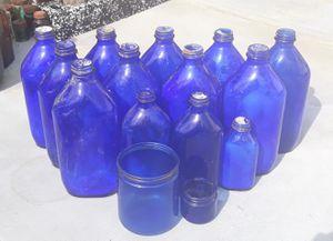 Collector Cobalt Blue Glass Bottles [15] for Sale in Bamberg, SC