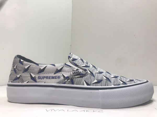 Supreme X Vans Slip On White DS Size 9