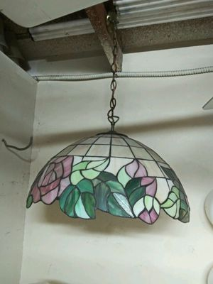 Vintage stained glass style chandelier for Sale in Rancho Cucamonga, CA