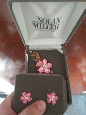 Nolan miller pink flower set for Sale in Camp Hill, PA
