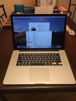 512GB-1TB 2.5 I7 16GB 2015 MacBook Pro Retina with Dual Graphics LOW CYCLES for Sale in Portland,  OR