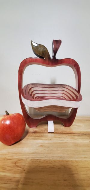 """Foldable wood basket. """"Equinoccio"""" made in mexico. for Sale in Hayward, CA"""
