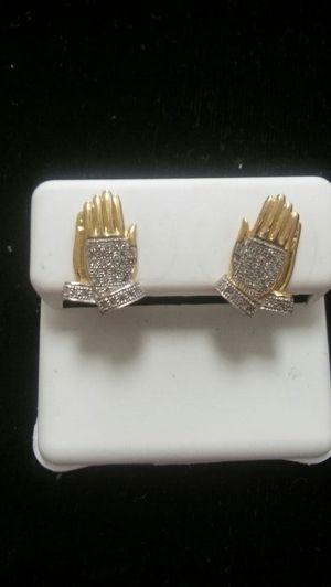 YG Praying hands diamond Earrings for Sale in Columbus, OH