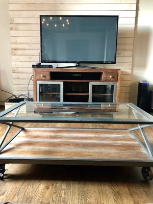 Industrial Coffee Table & Entertainment Stand Set for Sale in Atlanta, GA